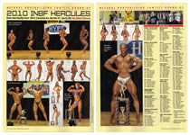 Natural Bodybuilding & Fitness magazine, February 2011 issue, featuring NAB stage photos of 2010 INBF Hercules bodybuilding and figure contestants.